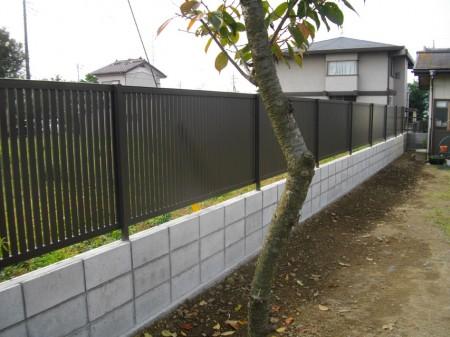 ブロック塀・フェンスの施工後です